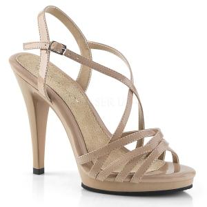 Beżowe 11,5 cm FLAIR-413 Fabulicious Sandały na wysokim obcasie