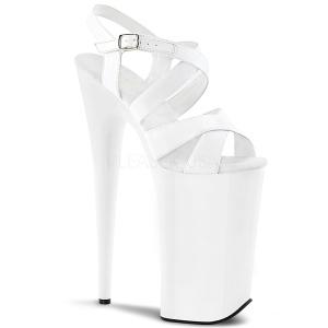 Biały 25,5 cm BEYOND-097 Platformie buty high heels