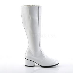 Biały 5 cm FUNTASMA GOGO Kozaki Damskie