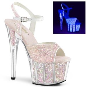 Glitter platformie 18 cm ADORE-710UVG sandały do tańca pole dance
