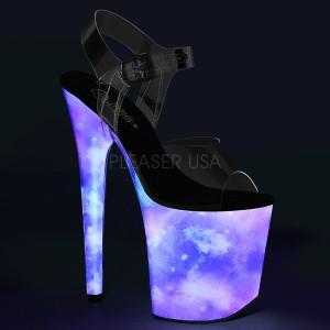 Neon 20 cm FLAMINGO-808REFL buty do tańca pole dance