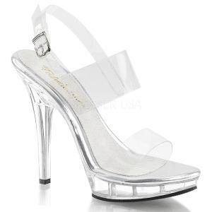 Przeźroczysty 13 cm LIP-114 buty damskie na wysokim obcasie
