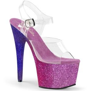 Purpurowy glitter 18 cm Pleaser ADORE-708OMBRE buty do tańca pole dance
