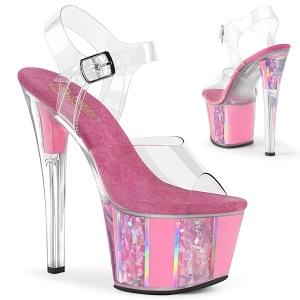 Różowe glitter 18 cm SKY-308OF Sandały do tańca pole dance