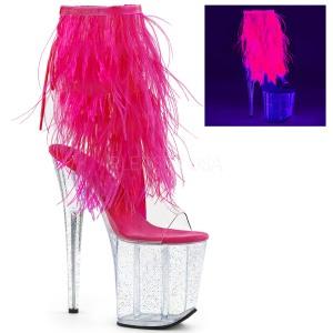 Różowe pióra 20 cm FLAMINGO-1017MFF buty do tańca pole dance