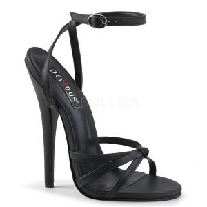 Skóra Ekologiczna 15 cm DOMINA-108 fetysz buty na obcasie