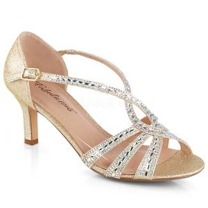 Złoto blasku 6,5 cm Fabulicious MISSY-03 sandały na obcasie