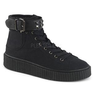 lniane 4 cm SNEEKER-255 sneakersy creepers buty