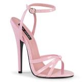 Różowe 15 cm DOMINA-108 fetysz buty na obcasie