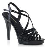 Czarne 11,5 cm FLAIR-413 Fabulicious Sandały na wysokim obcasie