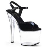 Akryl 18 cm Pleaser RADIANT-709 Platformie buty high heels