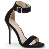 Aksamit 13 cm Pleaser AMUSE-10 Wysokie sandały na szpilce