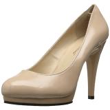 Beżowe 11,5 cm FLAIR-480 buty damskie na wysokim obcasie