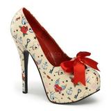 Beżowe 14,5 cm TEEZE-12-3 buty damskie na wysokim obcasie