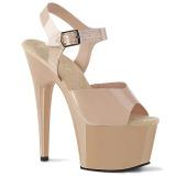 Beżowe 18 cm ADORE-708N Platformie buty high heels
