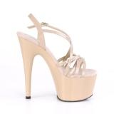 Beżowe 18 cm ADORE-713 pleaser sandały na szpilce