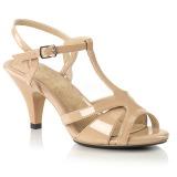 Beżowe 8 cm BELLE-322 buty na transwestyta