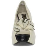 Beżowe Zamszowe 13,5 cm LOLITA-10 Platformie Szpilki Open Toe