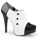 Białe Lakierowane 13,5 cm CHLOE-11 duże rozmiary szpilki buty