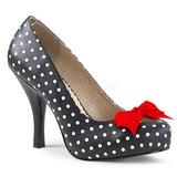 Białe Punkty 11,5 cm PINUP-05 duże rozmiary szpilki buty