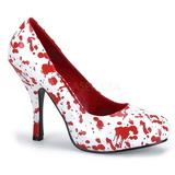 Biały 13 cm BLOODY-12 buty damskie na wysokim obcasie