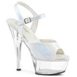 Biały 15 cm KISS-209BHG Platformie buty high heels