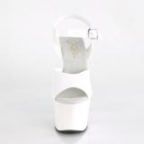 Biały 18 cm ADORE-708N Platformie buty high heels