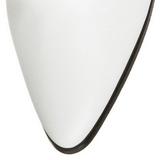 Biały 7 cm VICTORIAN-120 Botki Sznurowane Damskie