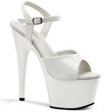 Biały Lak 18 cm ADORE-709 Platformie high heels obuwie