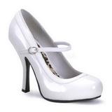 Biały Lakierowane 12 cm PRETTY-50 Buty na wysokim obcasie szpilki