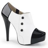 Biały Lakierowane 13,5 cm CHLOE-11 duże rozmiary szpilki buty