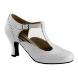 Biały Matowy 7,5 cm FLAPPER-26 Buty na wysokim obcasie szpilki