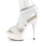 Biały elastyczna opaska 15 cm DELIGHT-669 obuwie pleaser dla damskie