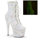 Biały glitter 18 cm ADORE-1020GDLG botki do tańca pole dance