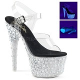 Biały neon 18 cm Pleaser ADORE-708NSK buty do tańca pole dance