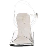 Biały 11,5 cm FABULICIOUS GALA-08 Sandały wieczorowe z piętą