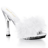 Biały 12,5 cm GLITZY-501-8 pior marabuta Klapki