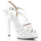 Biały 13 cm Fabulicious LIP-113 sandały na obcasie