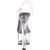 Biały 18 cm TIPJAR-708-5 Striptizerka Sandały Damskie