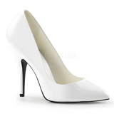 Biały Lakierowane 13 cm SEDUCE-420 Buty na wysokim obcasie szpilki