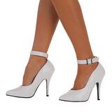 Biały Lakierowane 13 cm SEDUCE-431 Buty na wysokim obcasie szpilki
