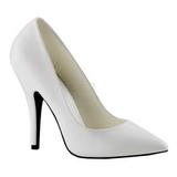 Biały Matowy 13 cm SEDUCE-420 Buty na wysokim obcasie szpilki