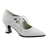 Biały Matowy 7 cm VICTORIAN-03 Buty na wysokim obcasie szpilki