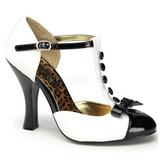 Biały Zamsz 10 cm SMITTEN-10 Buty na wysokim obcasie szpilki