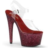 Bordowywy glitter 18 cm Pleaser ADORE-708HMG buty do tańca pole dance