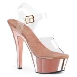 Chrom 15 cm Pleaser KISS-208 Platformie buty high heels