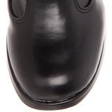Czarne 10 cm CRYPTO-106 kozaki klamry damskie na obcasie