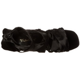 Czarne 11,5 cm CHIC-26 Sandały na szpilkach