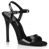 Czarne 11,5 cm GALA-09 fabulicious sandały na szpilce
