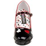 Czarne 11 cm CONTESSA-57 buty damskie na wysokim obcasie